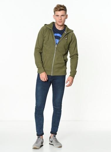 Nike Kapüşonlu Fermuarlı Sweatshirt Yeşil